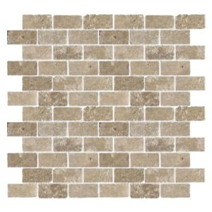 Florida Tile Pietra Art Travertine Brick Mosaic