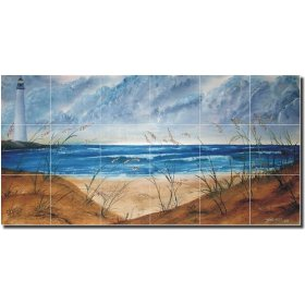 "Ceramic Tile -""Seascape"" by Derek McCrea"