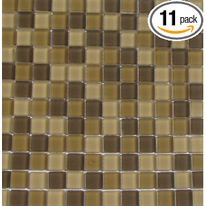Interceramic Desert Matte 11-pack Mosaic Glass