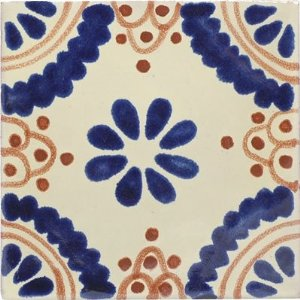 Mexican Talavera Tile Ceramic - 4x4 Madrid