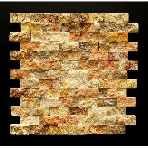 Scabos 1 X 2 Split Face Travertine Mosaic Tile