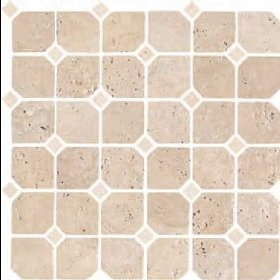 Florida Tile Pietra Art Stone Octagon Mosaic Brown